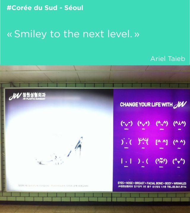 corée publicité chirurgie smiley culture graphique strasbourg