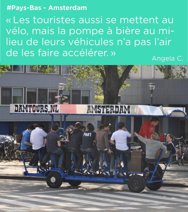 drole de vehicule qui change des vélos strasbourgeois