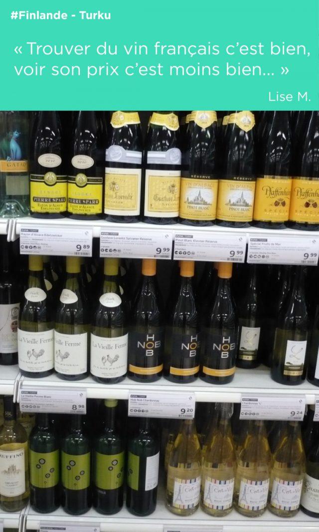 bouteilles étiquettes turku vin alsace