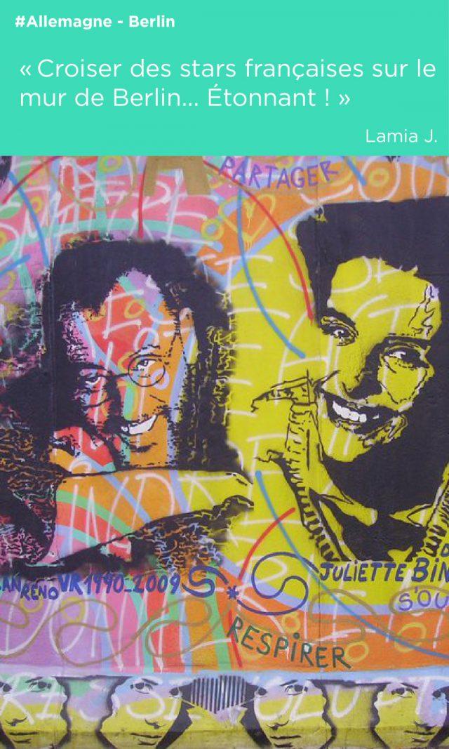 mur de berlin pochoirs illustration