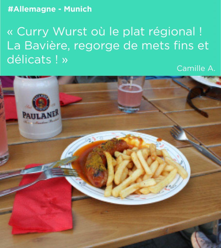 curry wurst en baviere