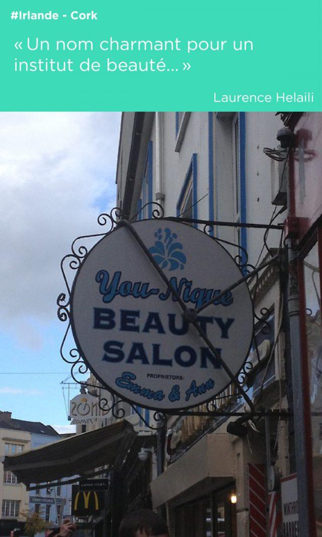 devanture logo salon de beauté