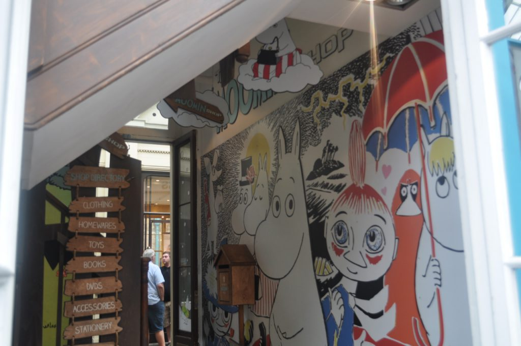 magasin moomin à londres illustrations enfantines