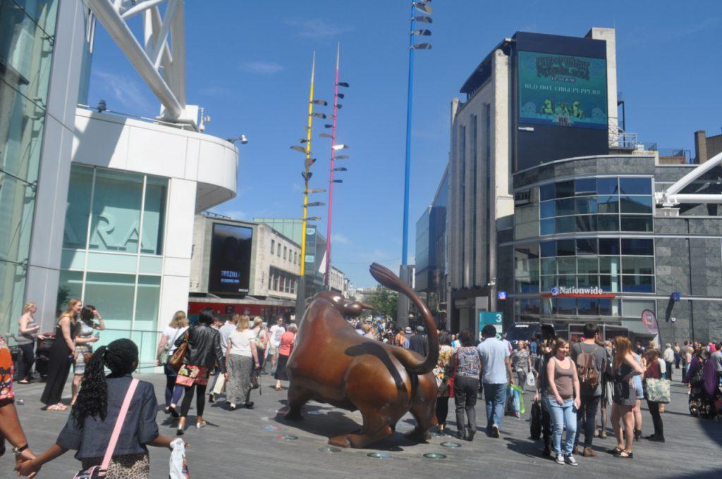 taurreau sculpture bullring