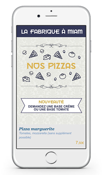 pizzeria application mobile restaurant graphiste strasbourg freelance