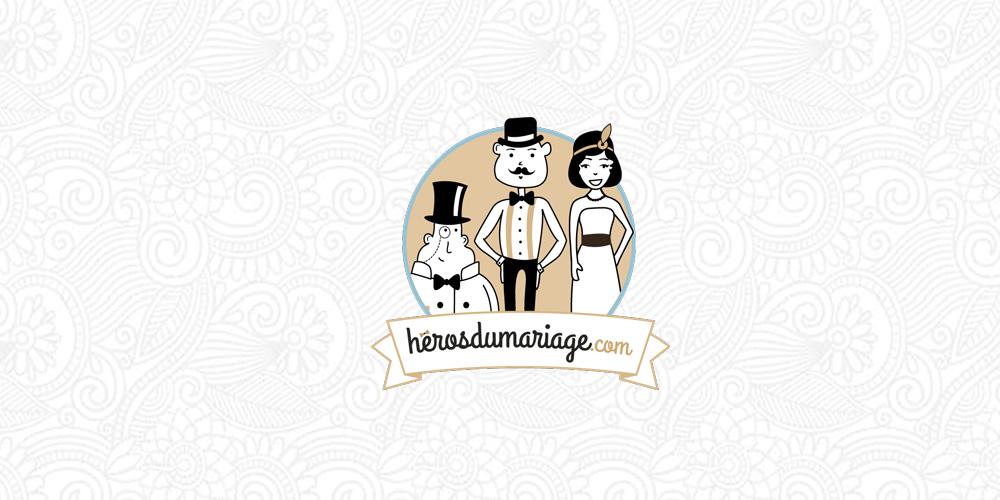 heros du mariage illustration et logo société à strasbourg
