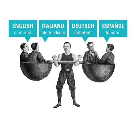 langues anglais italien allemand