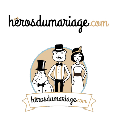 logo heros du mariage strasbourg graphiste