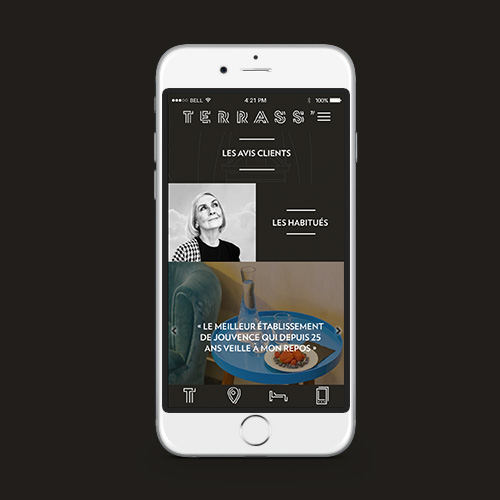 Application mobile pour hotel - graphiste strasbourg freelance