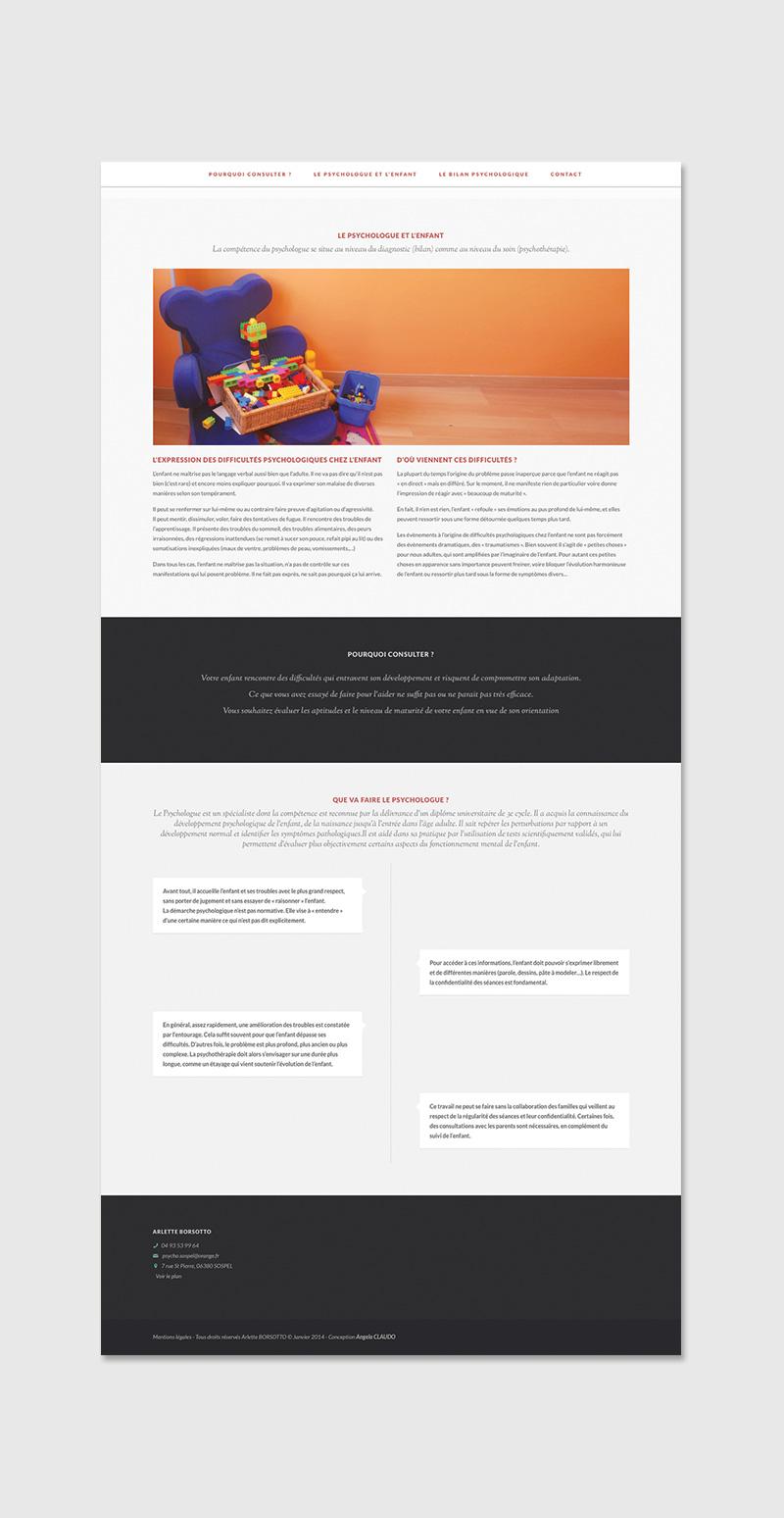 maquette site psychologue design
