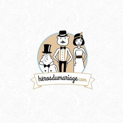 logo heros mariage mascotte illustration société strasbourgeoise alsace freelance