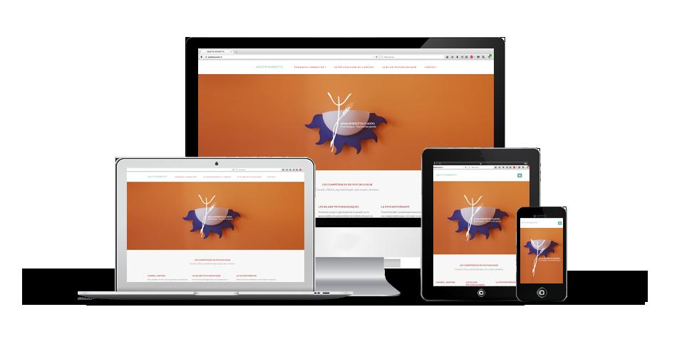 site internet psychologue responsive application alsace graphisme