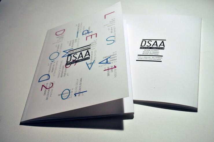 mise en page dsaa strasbourg print brochure A5 graphiste freelance alsace