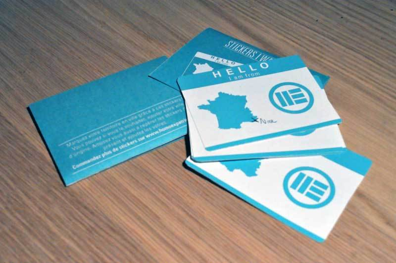 stickers publicité flyer distribution graphiste strasbourg