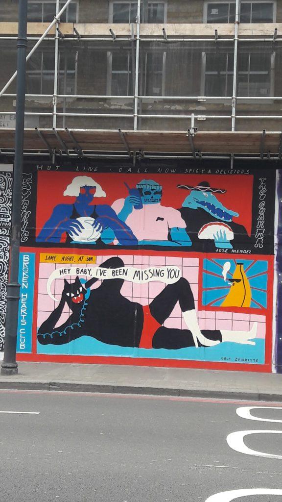 Chat street art rue